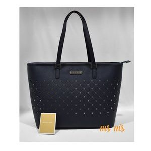 NWT Michael Kors navy leather tote